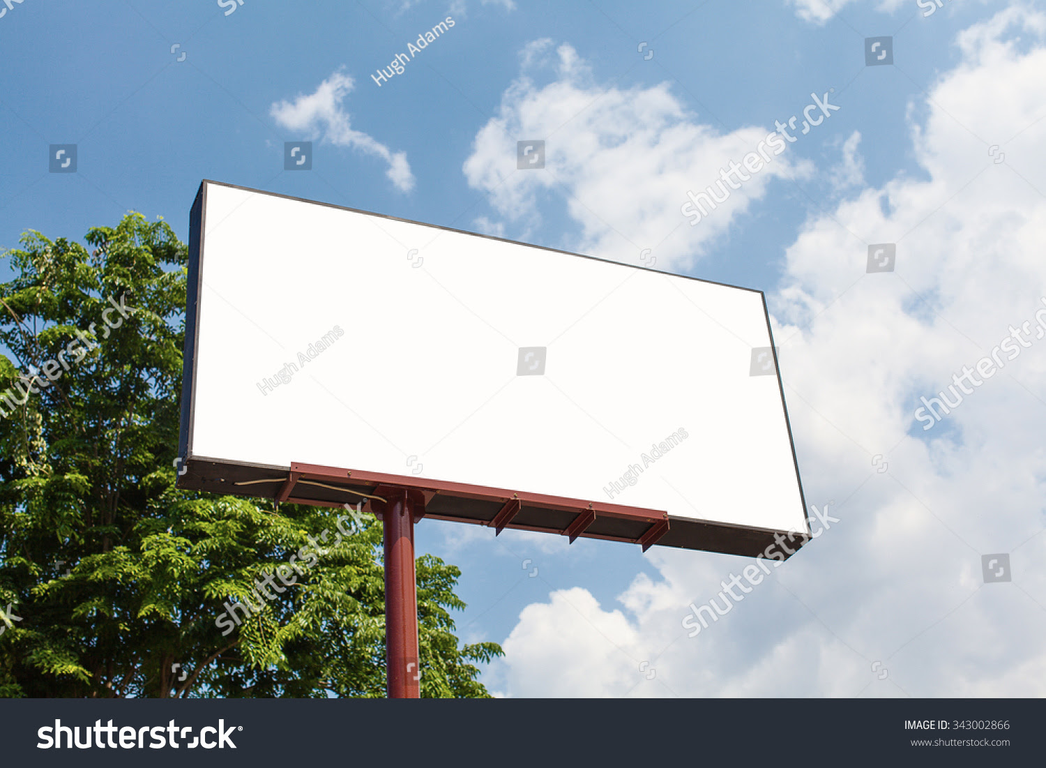 Blank Billboard Template Clipping Path Stock Photo 343002866 ...