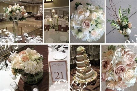 brown themed wedding ideas   26 Incredible Ivory Wedding