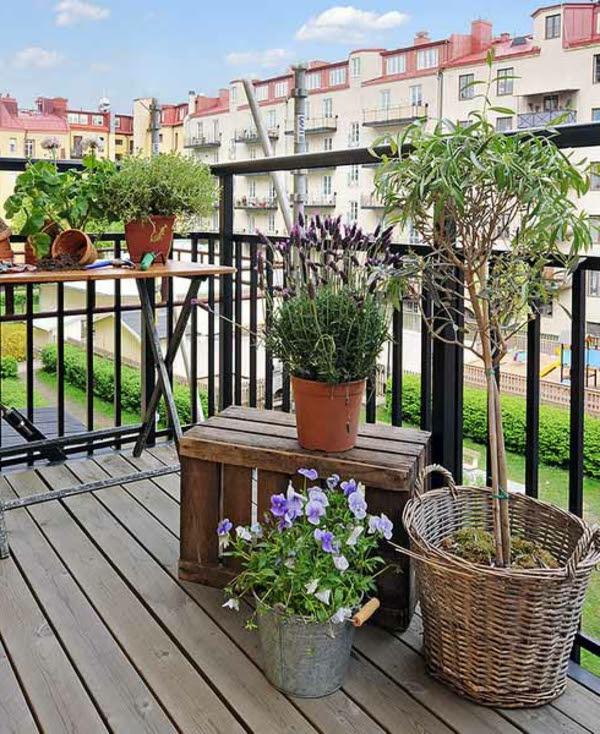 sa modeller balkongestaltung mit pflanzen. Black Bedroom Furniture Sets. Home Design Ideas