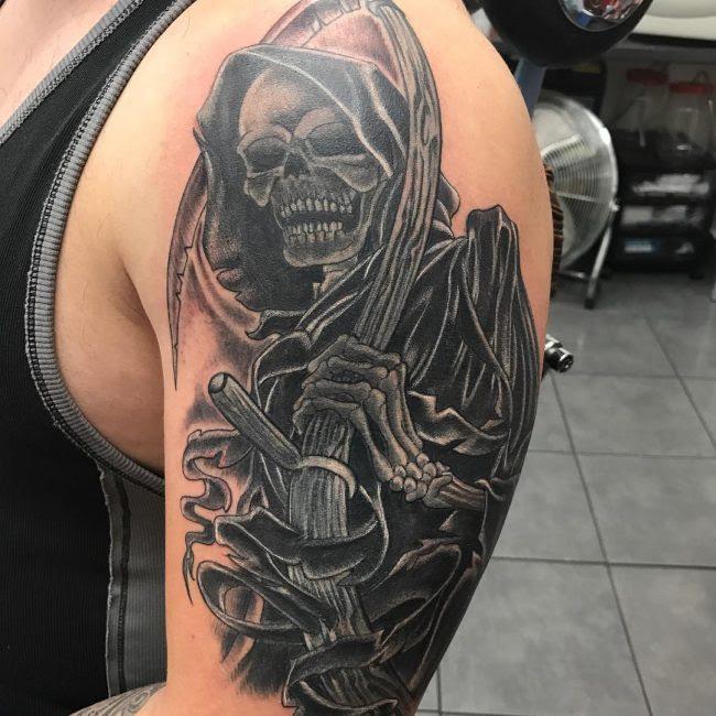 95 Best Grim Reaper Tattoo Designs Meanings 2018