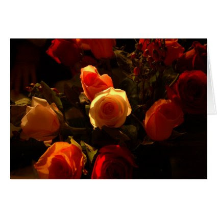 Roses I - Orange, Crimson and Gold Glory Cards