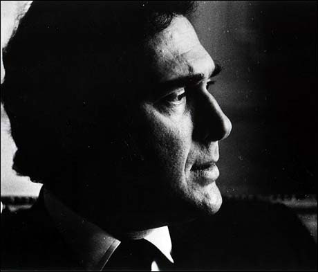 Harold Pinter profile photograph