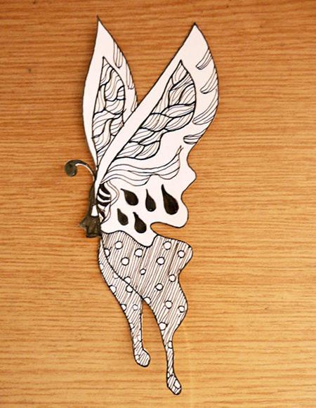 butterfly on my desk