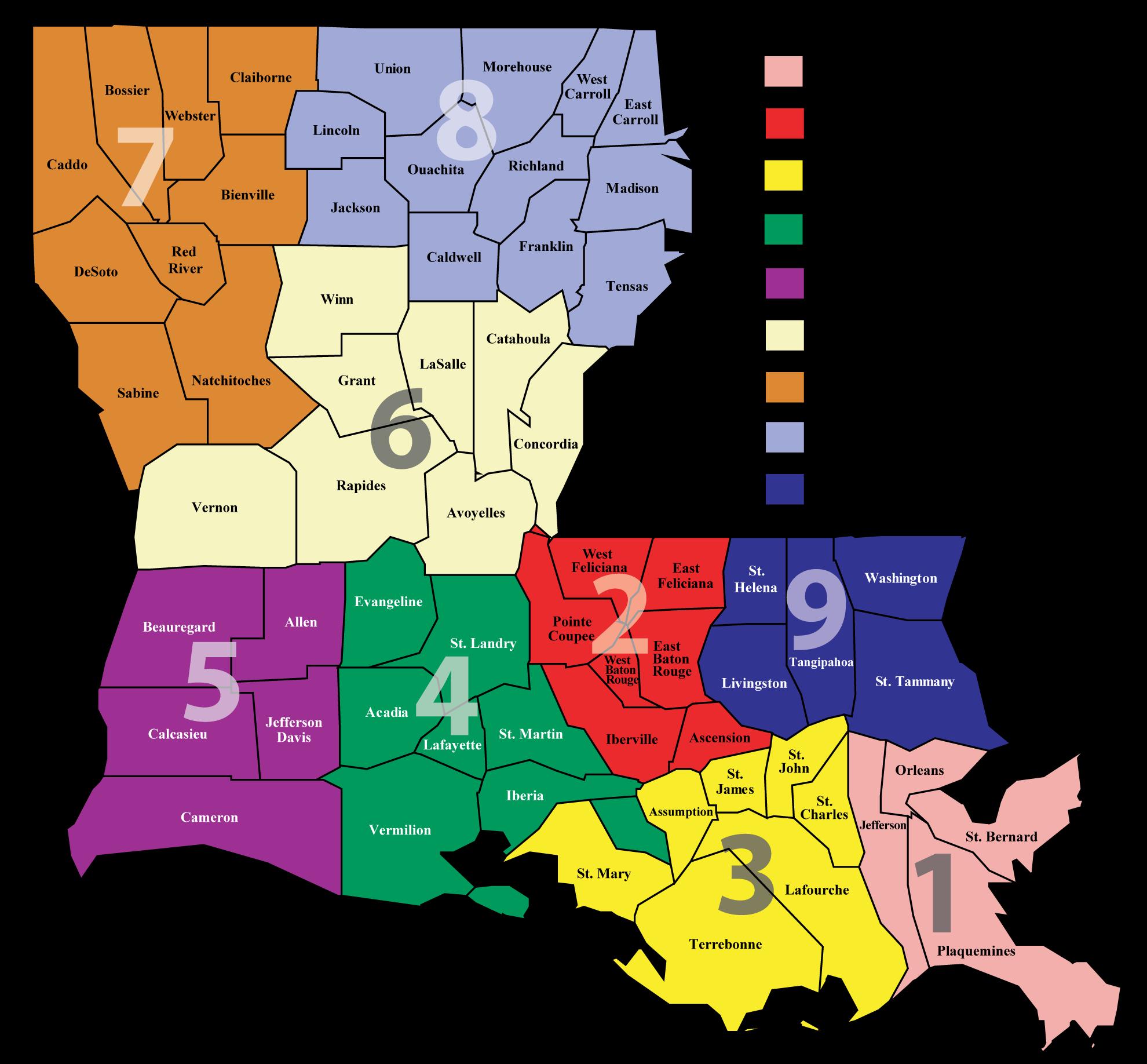 LDH Administrative Regions Map