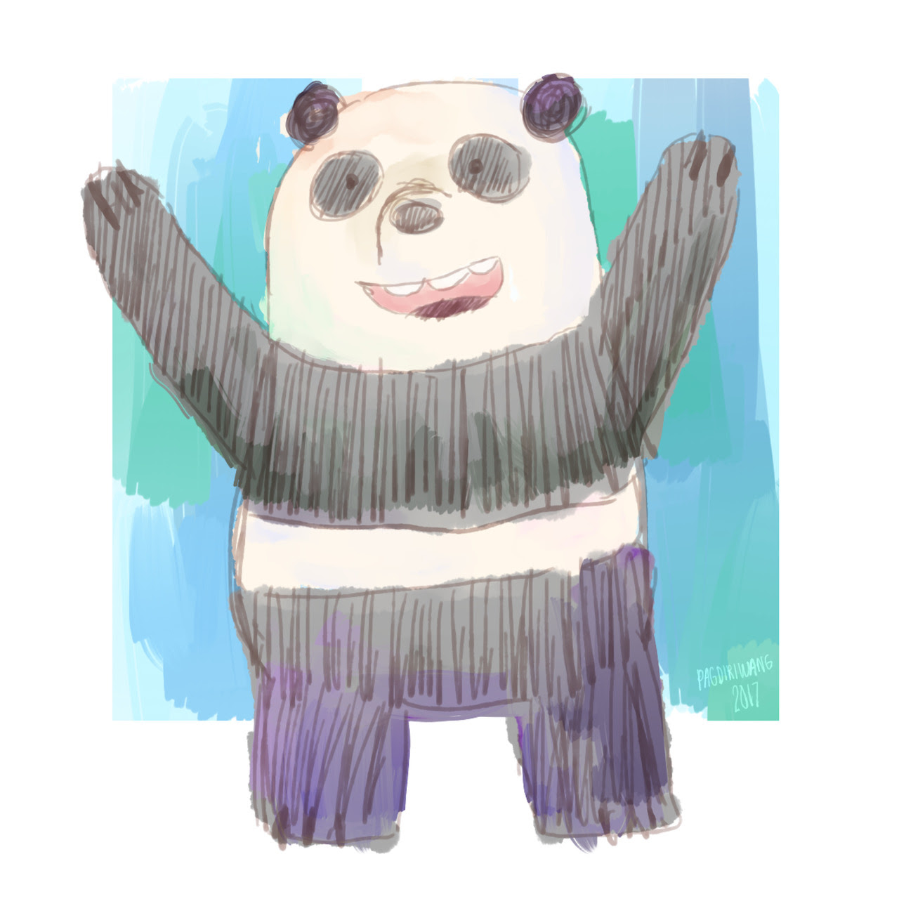 panda from we bare bears!! :D