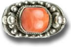 Salmon Coral Silver Jewelry