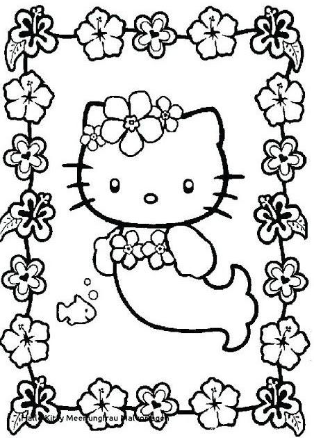 ausmalbilder hello kitty meerjungfrau  coloring and drawing