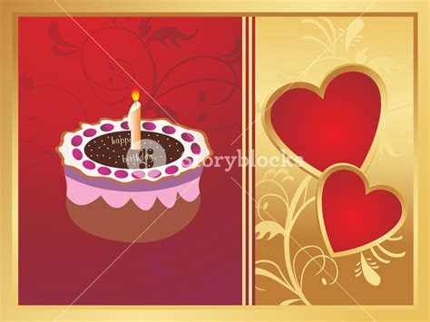 Wedding Anniversary Card On Red And Golden Background