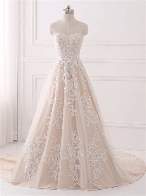 A line Wedding Dresses,Lace Wedding Dress,Elegant Bridal