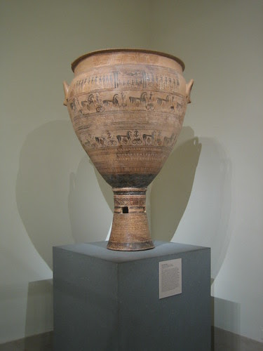 Terracotta krater, Greek, Attic, Geometric, c. 725 B.C. _8216