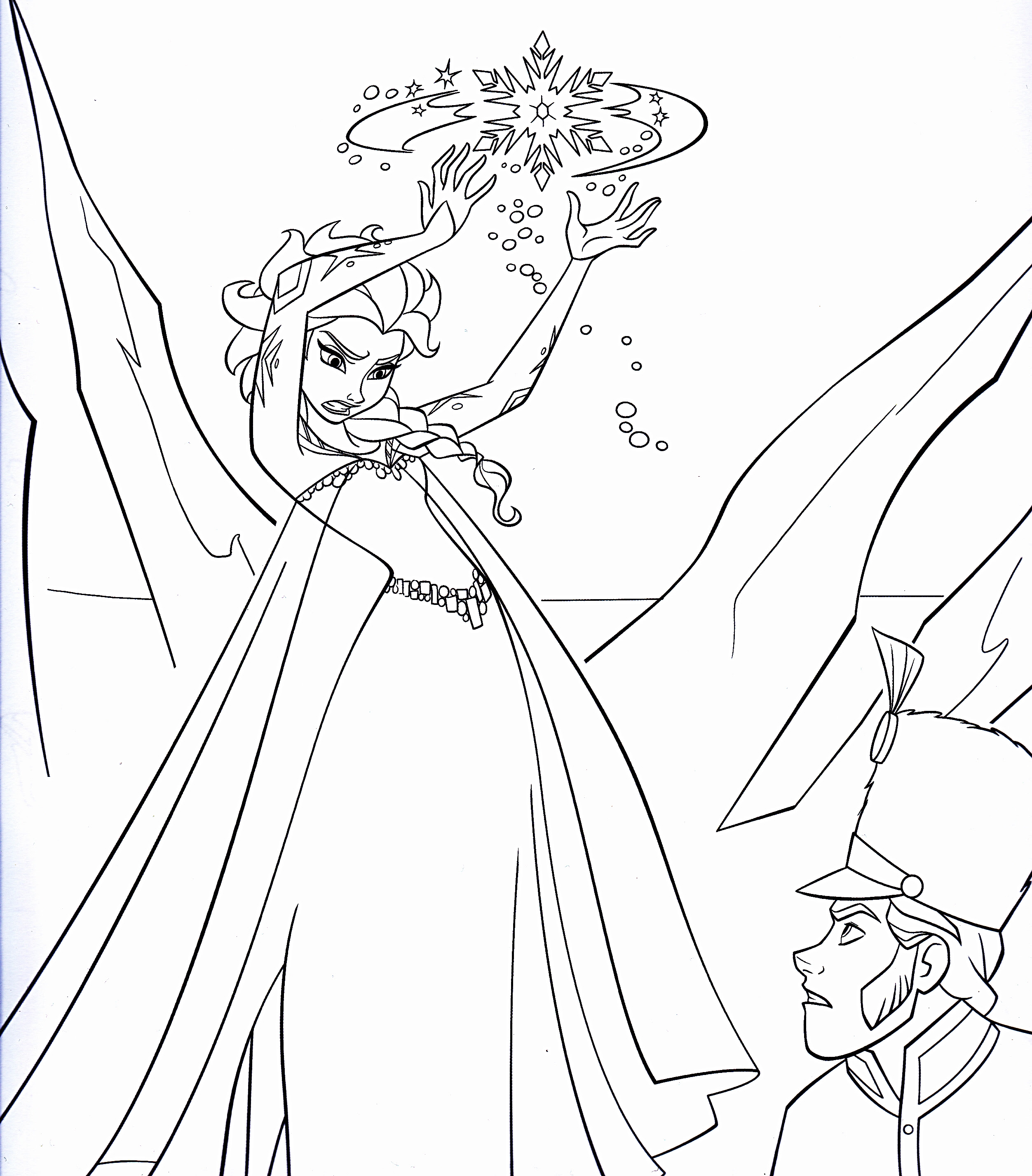 Karakter Walt Disney Gambar Walt Disney Coloring Pages Queen Elsa