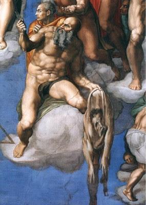 Ο Άγιος Ναθαναήλ ή Βαρθολομαίος κρατά το δέρμα του στην Καπέλα Σιστίνα