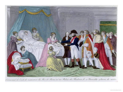 The Empress Marie-Louise of Austria Giving Birth to the King of Rome, 1811 Giclee Print