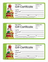 Holiday Gift Certificate Template Free Pictures
