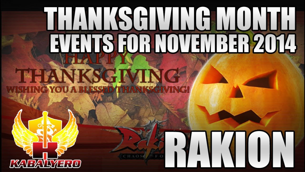 Rakion Thanksgiving Month, Events For The Month Of November 2014