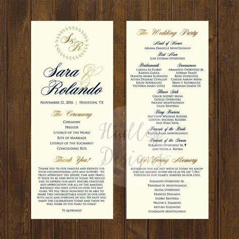 The 25  best Wedding program examples ideas on Pinterest
