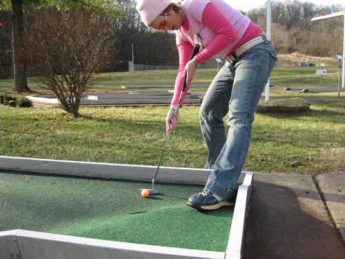 Mini  golfing The Ridges Athens Ohio