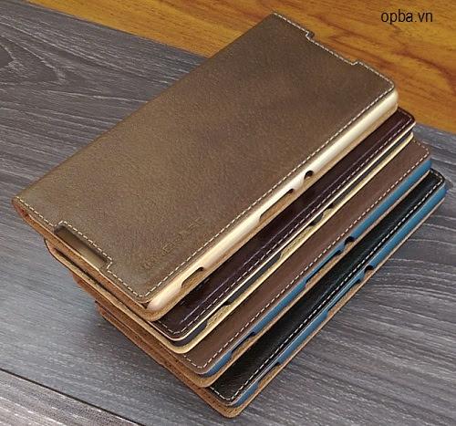 Bao da IONE SONY Xperia Z3+/Z4 Vintage Leather 100% Da Bò Thật