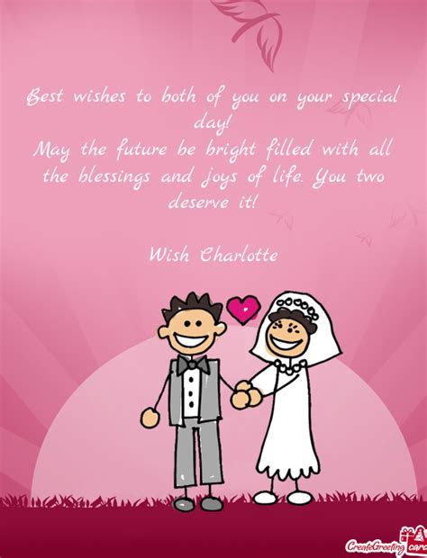 Best wishes to both of you on your special day   Free cards