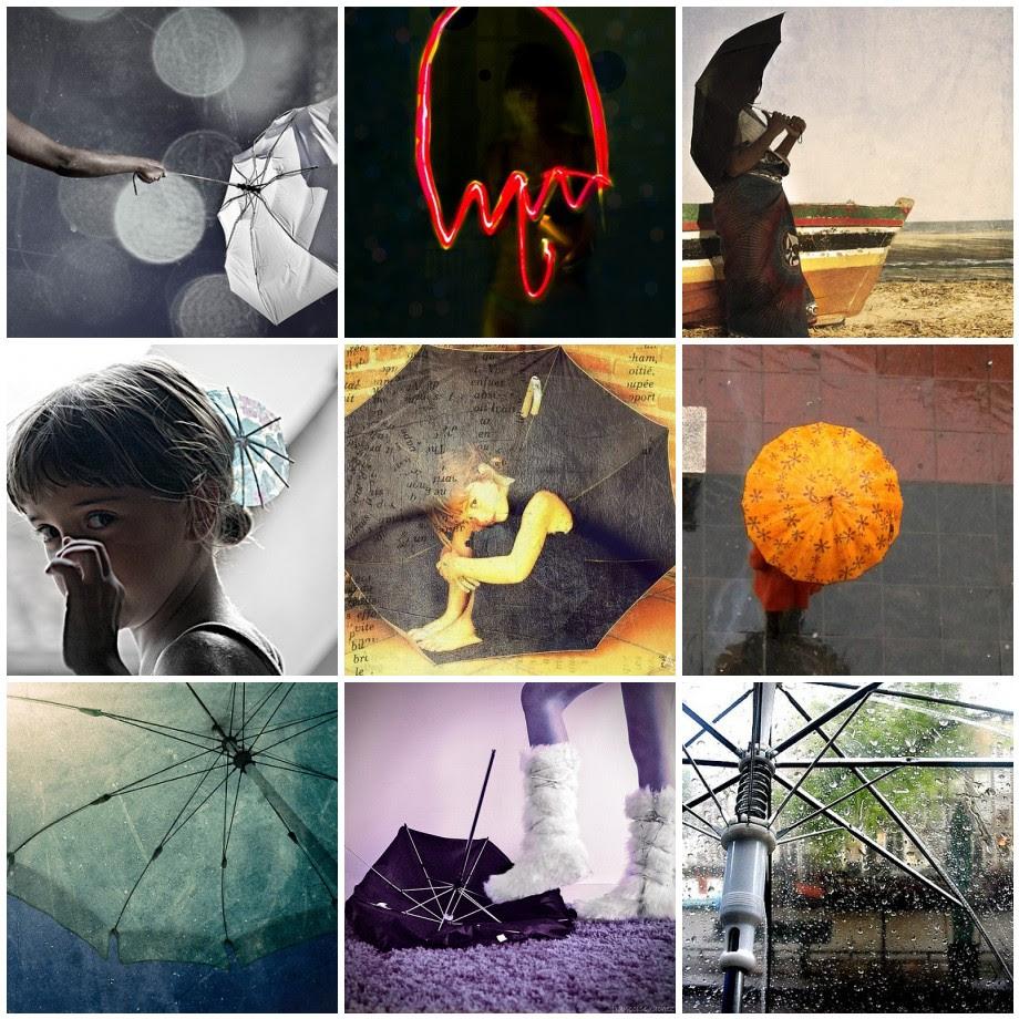 Sombrillas y paraguas. Creatividad