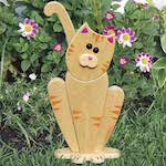 Garden Lookout Cat Woodworking Plan - fee plans from WoodworkersWorkshop® Online Store - cats, kittens,kitty cats, pets,animals,full sized patterns,woodworking plans,woodworkers projects,blueprints,drawings,blueprints,how-to-build,MeiselWoodHobby