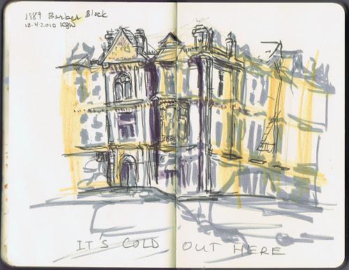 Sketchcrawl - Barber Block, Portland