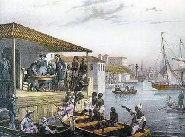 Desembarque de escravos no Cais do Valongo (JM Rugendas) - 1835