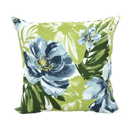 Shop allen + roth Green UV-Protected Outdoor Decorative Pillow at