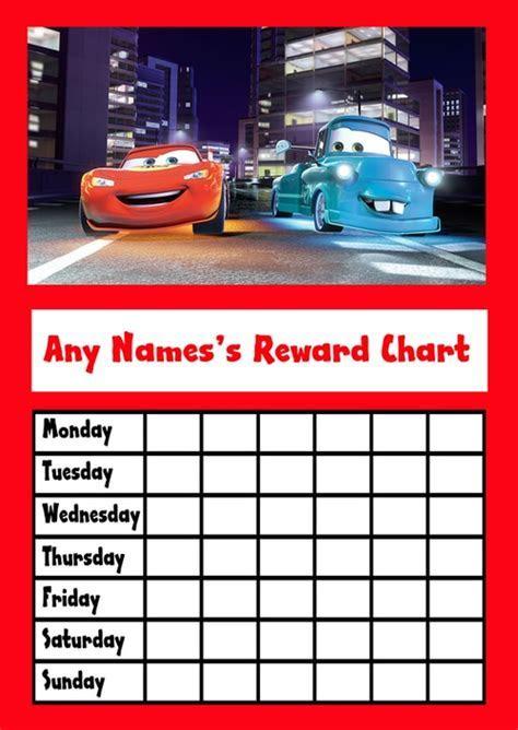 Cars Star Sticker Reward Chart   The Card Zoo