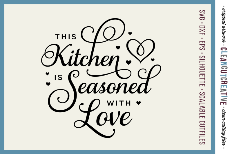 Download Free This Kitchen is Seasoned with Love - SVG DXF EPS PNG ...