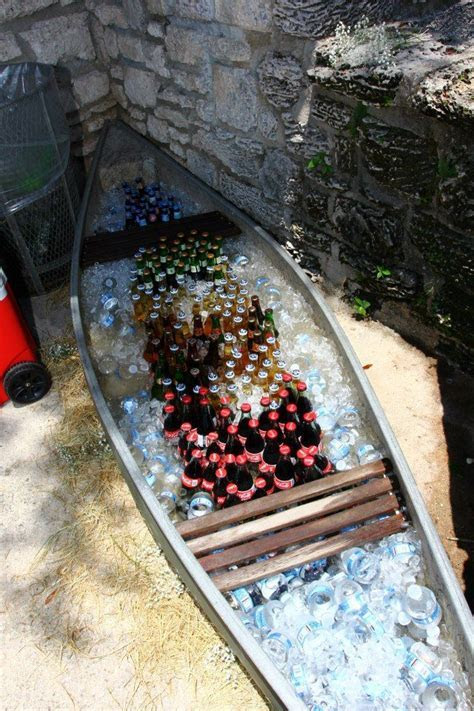 Canoe was used as the beer and soft drinks cooler for this