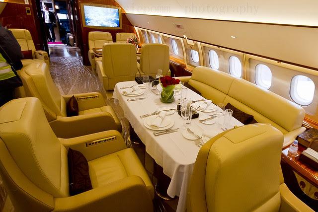 COMULUX A319CJ Cabin Shot Avalon Airshow Trade Day