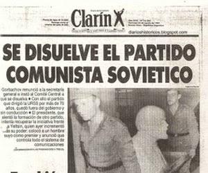 Un titular de Clarín, en agosto de 1991