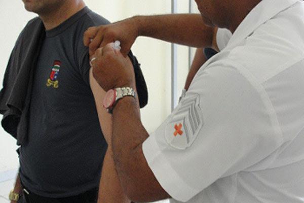 Polícia Militar faz campanha de vacinação entre a tropa