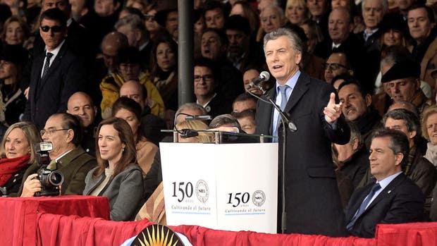 Macri habló durante 20 minutos en La Rural