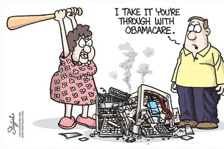 Image result for obamacare political cartoon