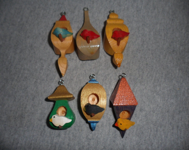 Whimsical Birdhouse Ornaments