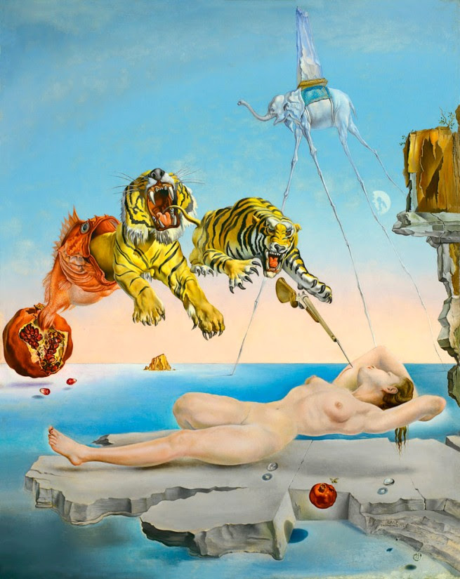 Salvador Dalí (1904-1989) 'Dream caused by the Flight of a Bee around a Pomegranate a Second before Awakening' 1944