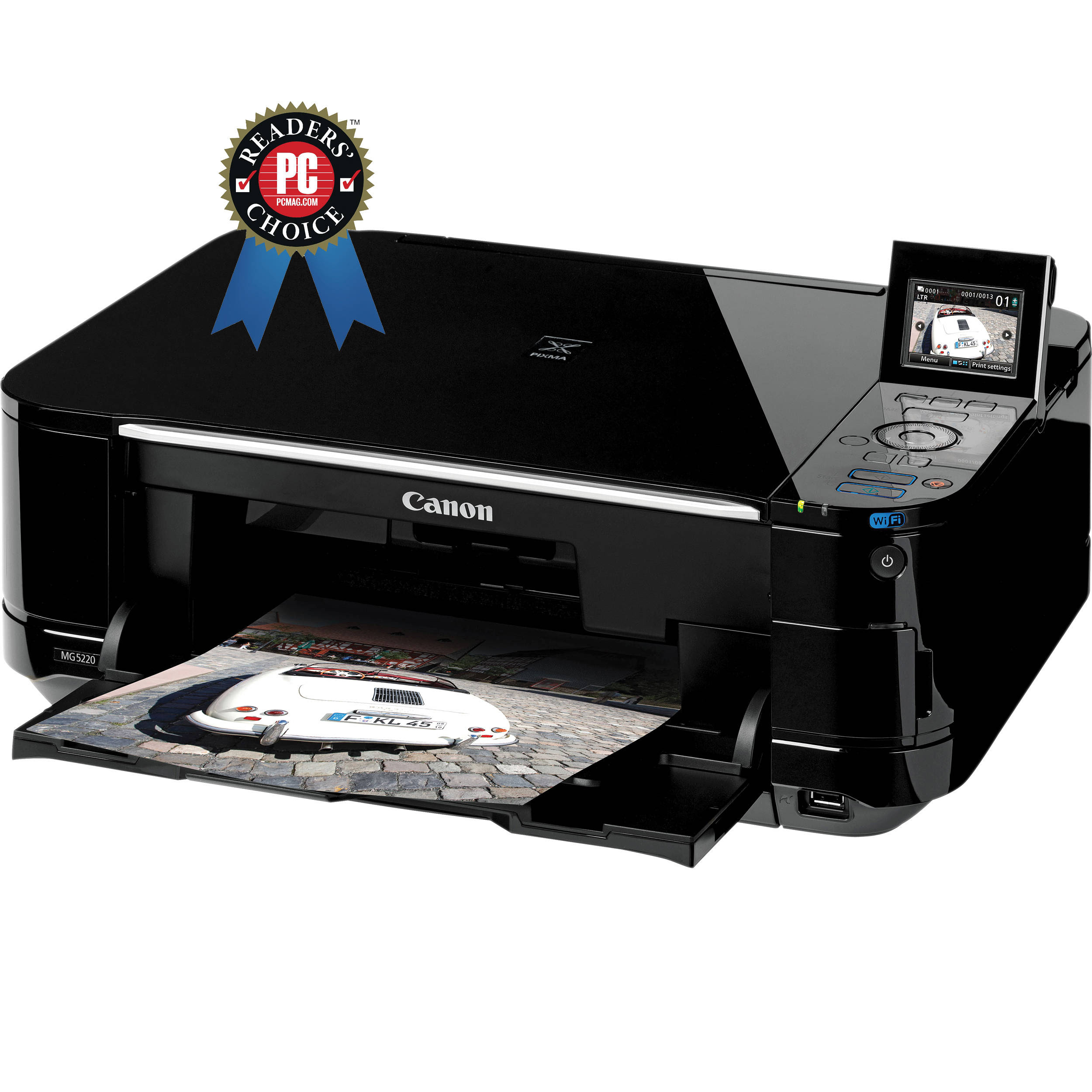 Canon PIXMA MG5220 Wireless Photo All-in-One Inkjet ...