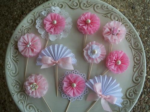 Ruffle Cupcake Toppers