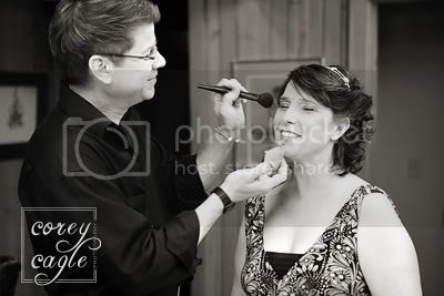 getting ready for wedding in Cashiers NC
