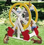 Squirrel Feeder Ferris Wheel Woodworking Plan - fee plans from WoodworkersWorkshop® Online Store - squirrels, animal feeders,full sized patterns,woodworking plans,woodworkers projects,blueprints,drawings,blueprints,how-to-build,MeiselWoodHobby