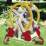 Squirrel Feeder Ferris Wheel Woodworking Plan - fee plans from WoodworkersWorkshop® Online Store - squirrels, animal feeders,full sized patterns,woodworking plans,woodworkers projects,blueprints,drawings,blueprints,how-to-build,MeiselWoodHobby