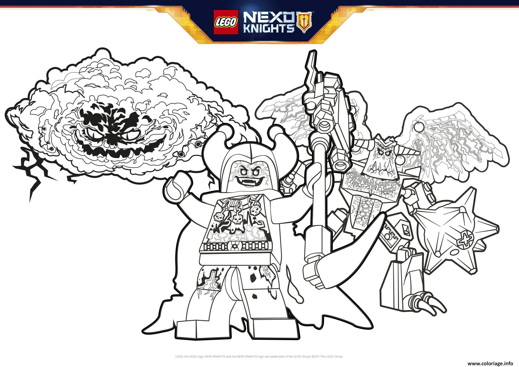 Coloriage Lego Nexo Knights Badguys Formation Jecoloriecom