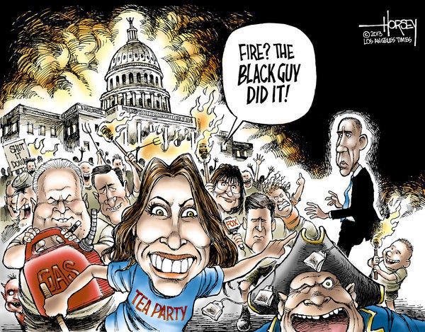 Tea party Republicans blame their government shutdown on Obama