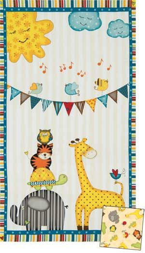 SUNSHINE ZOO QUILT KIT