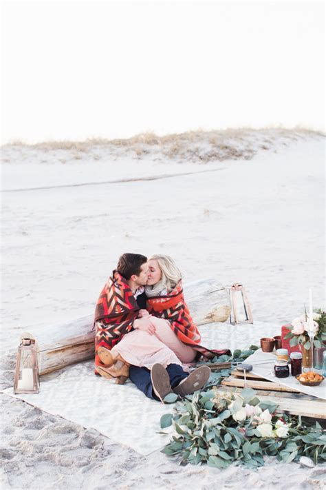 Early spring beach proposal   Wedding & Party Ideas   100