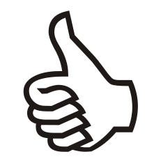 "Symbol ""thumbs up"", great"