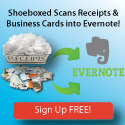 Shoeboxed Works Great With Evernote