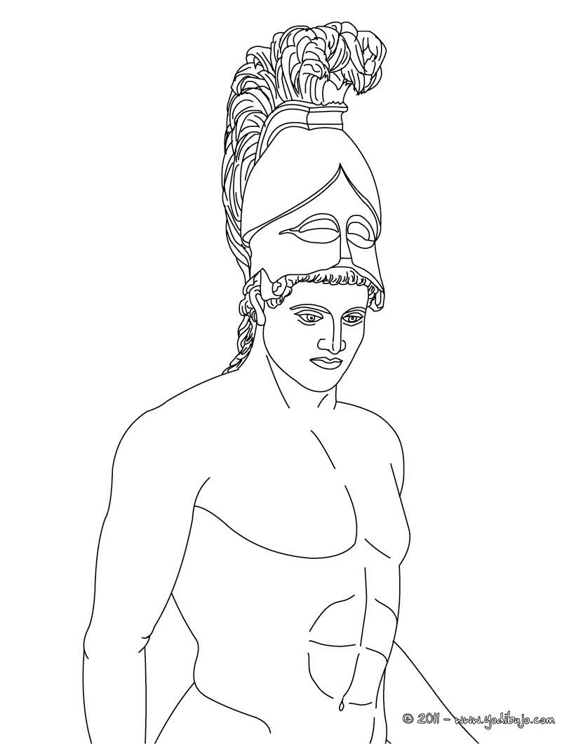 Dibujos Para Colorear Dios Ares Dios Griego De La Guerra Es